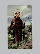 400 Series Holy Card (laminated) St Francis