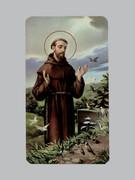 400 Series Holy Card (laminated) St Francis