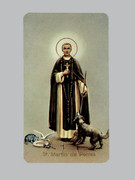 400 Series Holy Card (laminated) St Martin de Porres (LC4-151)
