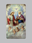 400 Series Holy Card (laminated) Holy Trinity