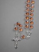 Glass Rosary: 10mm Bead Pink (AB) (RXIR10P)