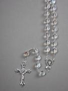 Glass Rosary: 10mm Bead Clear (AB) (RXIR10C)