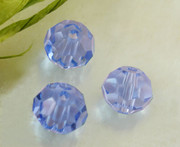 Glass Crystal Beads 6mm Round Blue x 100