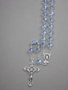 Glass Rosary: 8mm Bead Blue(AB) (RX908B)