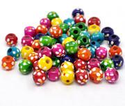 Wood Beads: 10mm Round MULTI (300)