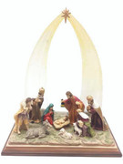 All-In-One Resin Nativity Scene (NS10081)