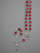 Glass Rosary: 7mm Bead Red (AB) (RX907R)