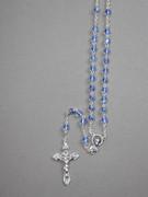 CRYSTAL ROSARY 6mm bead, BLUE (RX906B)