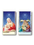 Christmas Holy Cards 100 cards 2 designs(HCX7153)