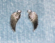 Pendant or Charm: Angel Wing 17mm (pack50)