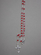 Glass Rosary 4mm bead, RED (RX904R)