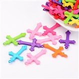 Cross Pendant: Plastic 36mm (Mix Pack 10) (CRP101)