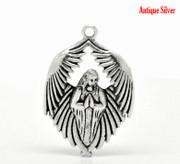 Pendant: Antique Silver Angel 43x28mm (P005)