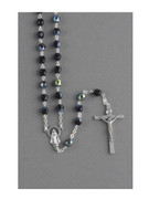 Glass Rosary: 6mm Black AB (RXSC6)