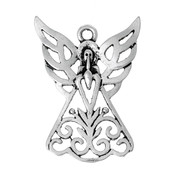 Pendant: Antique Silver Angel, 32mm (P030)