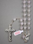 Precious Stone Rosary: Rose Quartz 6mm Bead (RX5526QR)