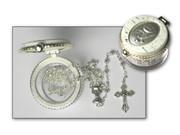 Communion Rosary & Box: Silver Bead(RXFILCO)