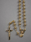 Rosary: Gold Plated 5mm Beads (RX104G)