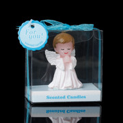 Baby Cake Topper Candle Angel Boy 7cm(one only) (CAB505B)