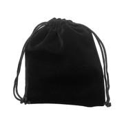 Velvet Drawstring Pouch: Black 10x 15cms (GE3563)