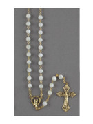 Rosary: Mother of Pearl Gold Links (RX35116)