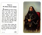 TJP Holy Card:St Frances Xavier Cabrini (TJP245A)