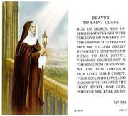 TJP Holy Card: St Clare (TJP704)
