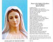 TJP Holy Card: Lady of Medjugorie (TJP714)