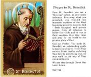 TJP Holy Card: St Benedict (TJP723)