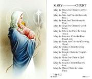 TJP Holy Card: Mary-------Christ (TJP732)