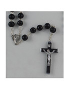 Wood Rosary: 11mm Black Bead (ROLT6K)