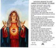 TJP Holy Card: Novena Prayer to the Immaculate Heart of Mary (TJP769)