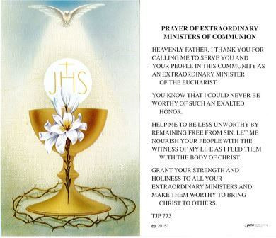 TJP Holy Card: Prayer for Extraordinary Ministers of Communion (TJP773)
