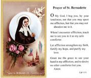 TJP Holy Card: St Bernadette (TJP777)