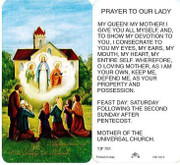TJP Holy Card: Prayer to Our Lady (TJP783)