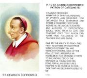 TJP Holy Card: St Charles Borromeo (TJP809)