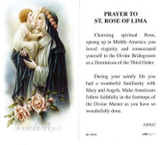 TJP Holy Card: Prayer to St Rose of Lima (TJP832)