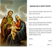 TJP Holy Card: Prayer for a Happy Death (TJP833)