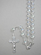Glass Rosary 6mm bead Crystal (RX326C)