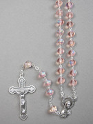 Glass Rosary 6mm Beads Pink (RX326P)