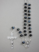 Glass Rosary 6mm Beads Black (RX326K)