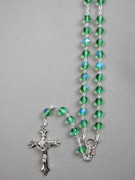 Glass Rosary 6mm bead Green (RX326G)