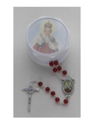 Glass Rosary & Box: Infant of Prague (RX36905)