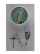 Glass Rosary & Box: Fatima (RX36909)