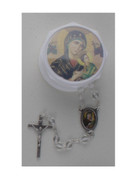 Glass Rosary & Box: Our Lady Perpetual Help (RX36933)