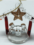 Christmas Ornament Glass: Nativity 5cm (NST1956)