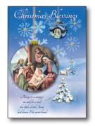 Quality Christmas Cards Pk6 One designs (CDX97645)