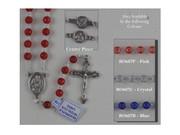 Rosary: Translucent Round Plastic Red (RO607R)