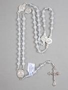 Rosary: Translucent Round Plastic Clear (RO607C)