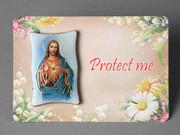 Plastic MINI Plaque - Sacred Heart Jesus(PL291101)
